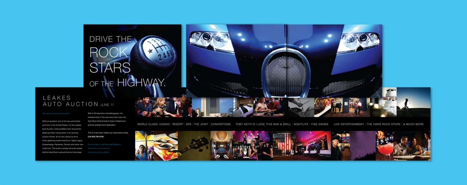 Gatefold Brochure for a Private Auto Auction